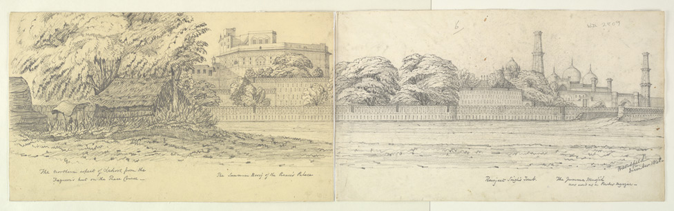Panorama of the city of Lahore (Punjab) from the racecourse. December 1848